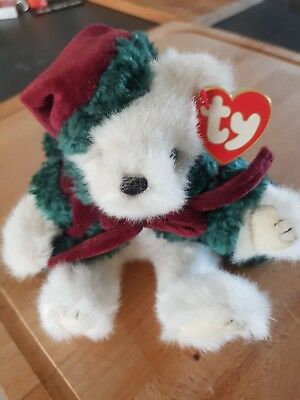Ty BEANIE Baby Teddy Klause Weihnachtsbär mit Outfit