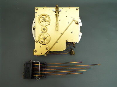 Vintage Smiths Enfield mantel clock movement and chime for repair or spares