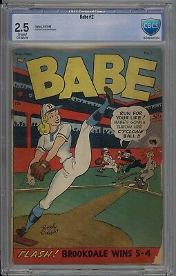 Babe # 2 CBCS 2.5 GD+ Prize Publications GGA Good Girl Art 1948 LIKE CGC HTF