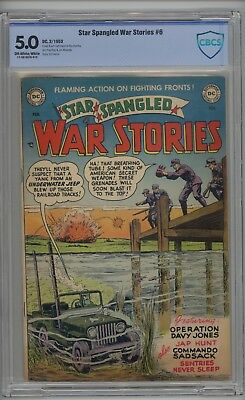 Star Spangled War Stories # 6 CBCS 5.0 VG/FN 1953 Curt Swan Cover & Art RARE