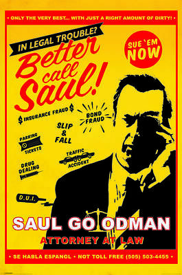 Breaking Bad Better Call Saul Maxi Poster Print 61x91.5cm | 24x36 inches