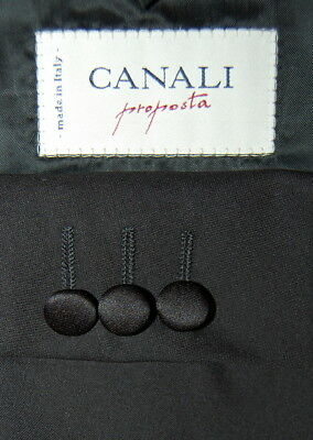Mens 44 R Canali 3 Button Notch Wool Tuxedo Made Italy Pleat 36 x 30