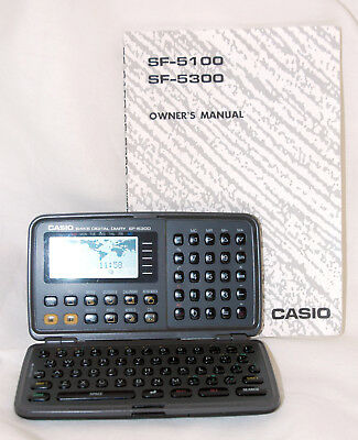 Working Casio 64KB SF-5300 Digital Diary With Manual