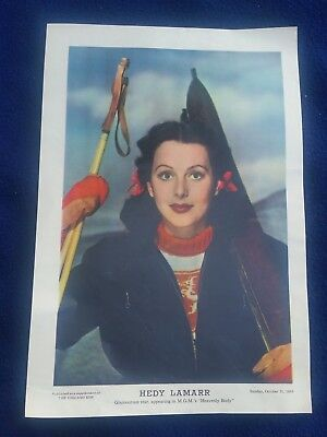 Chicago Sun WWII Girlie Pinup Insert October 31, 1943 Movie Star Hedy Lemarr
