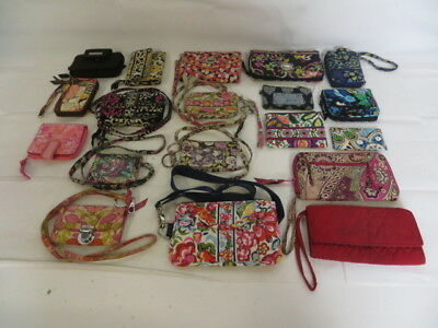 VERA BRADLEY Cloth Patterned Lot! All USED Wristlet/Wallets/Cases / (2) DAMAGED