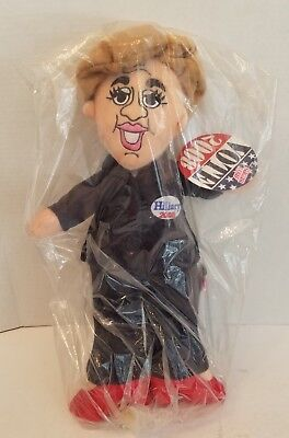 "17"" Hillary Clinton Plush Doll Sugar Loaf 2008 Hard 2 Find w Hang Tag New in Bag"
