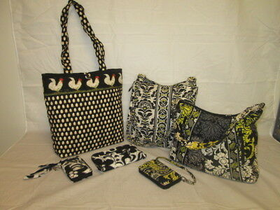 Vera Bradley Mixed Lot of 6: Purse/Wallets...Various Colors & Designs