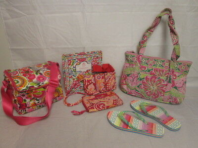 Vera Bradley Mixed Lot of 6: Purse/Wallets/Card Organizer/Flip Flops...etc