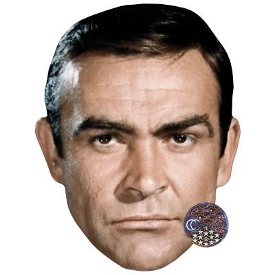 Sean Connery (Young) Maske aus Pappe