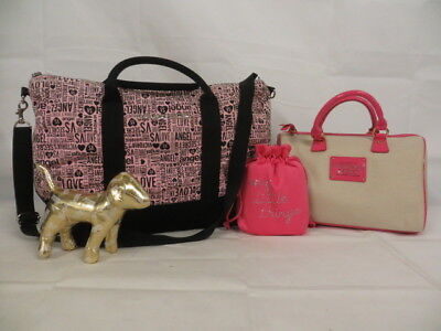 VICTORIA'S SECRET Lot! Tote Bag/Shoudler Bag/Dust Bag/Mini Golden Dog!