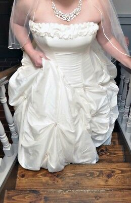 Maggie Sottero Couture Wedding Dress Gown Size 16 J889 Capri Marie