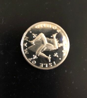 1 Pound Silver Coin 1981 Isle Of Man Pobjoy Mint