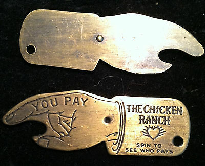 The Chicken Ranch Bottle Opener Who Pays Spinner Brothel Whorehouse Advertising