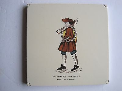 "VINTAGE CARTER ""CRIES OF LONDON"" TILE - ANY WORK FOR JOHN COOPER c1955"