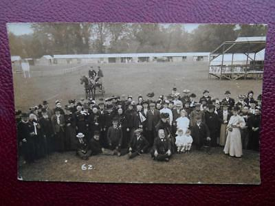 Large Crowd at Agricultural Show ? RP c1910 Social History Costume Horse Cart