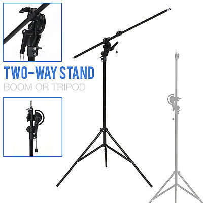 Lusana Studio Photography 10' Boom Stand Overhead Lighting for Photo Video
