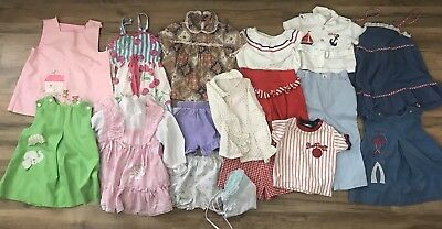 Vintage Clothing Lot Boy Girl Baby Unisex 18 Items Pants Tops Dresses 70's 80's