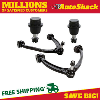 Set of 2 Front Upper Control Arm and 2 Lower Ball Joints fits Cadillac Chevy GMC