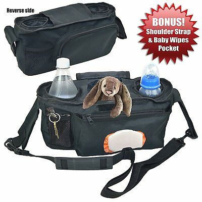 Universal Stroller Organizer with Easy Access to Wipes -