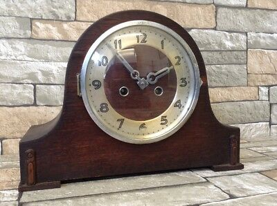 Antique Napoleon Hat Chiming Mantle  Clock Made In Wurttenberg Spares Or Repair