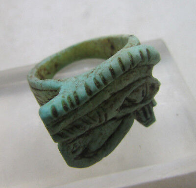 Beautiful Undated Egyptian Seal Ring With Eye Of Horus