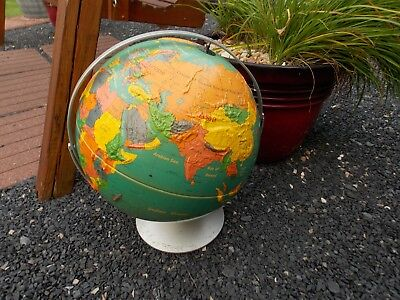 "Vintage 16"" Nystrom Readiness Globe Raised Topography 4A3-47B"