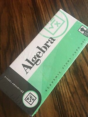 ALGEBRA VIS-ED CARDS - By Visual Education Academic Study Card Set