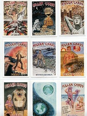 1988 Killer Cards Series 1 Second Edition Set of 46 carda
