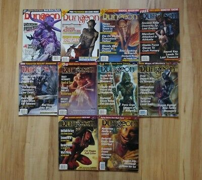 10 issues of Dungeon Magazine (#82, 83, 84, 85, 86, 87, 88, 89, 90, 92)