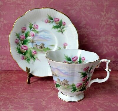 ROAD TO THE ISLES - TEA CUP TEACUP SAUCER SET, Royal Albert, bone china, England