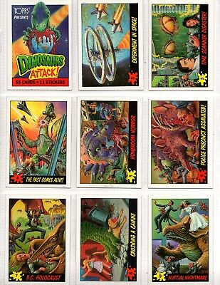 1988 Topps Dinosaurs Attack 55 cards & 11 stickers set