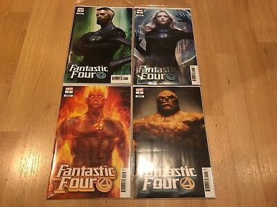 NEW 2018 Marvel Comics Fantastic Four 1 Artgerm Variant Set Lot 1st App Eradikus