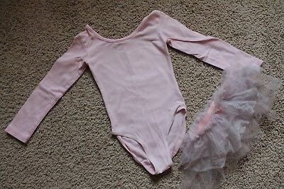 Toddler Girl Pink Ballet Leotard Tutu XXS