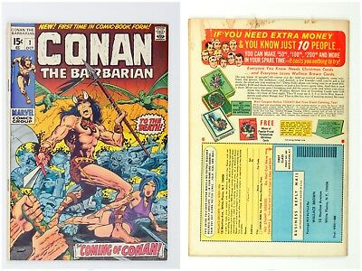 Conan the Barbarian #1 (Oct 1970, Marvel), 10 later issues, Conan King-Size #1