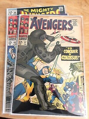 Avengers 3 Comic Lot 37 43 64 Captain America Wasp Scarlet Witch