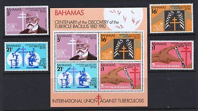 Bahamas 1981 Fight Against Tuberculosis MNH Sheet & Stamps - Cat £12.75- (165)
