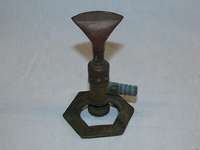 "Antique Brass & Copper Bunsen Burner Eimer & Amend N.Y. Scientific Vintage 5"" T"