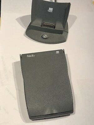 Palm Pilot IIIx in Excellent Condition, with Stand, Cable, and USB Adapter