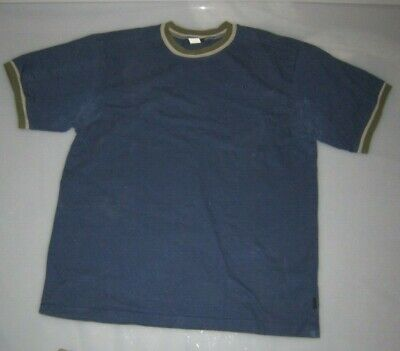 40788d55c VINTAGE VANS CASUAL T-SHIRT XL blue skate shoe bmx retro clothing mid 90's  usa