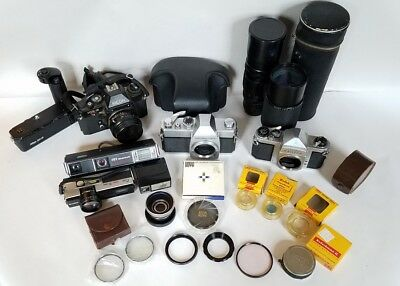 Lot of Cameras, Lenses, Filters etc.: Pentax, Mamiya, Nikon, Ricoh, Fujica MORE!
