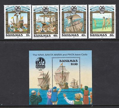 Bahamas 1990 Discovery of America  (3rd Issue) - MNH Set - Cat £14.50 - (205)