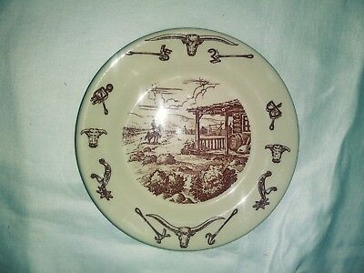 Wallace China 5 1/2 in pattern Vintage  western saucer no chips or cracks