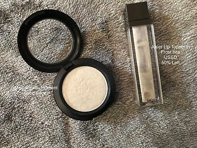 Mac Pressed Pigment Angelic And Jouer Lip Topper Frost Bite USED RRP £29.50