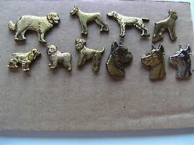 Dogs - Lot of 10 metal pin badges