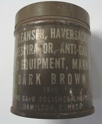 Full can of Capo Web Equipment Cleanser Haversack  Resperator Mark 11 Dated 1945