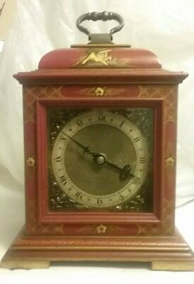 Chinese Oriental Asian Art Work Mantel Mantle SMITHS Clock Made In England
