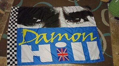 Damon Hill supporters flag
