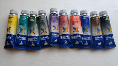 10 X  MaimeriBlu Artists Watercolours - 15ml Tubes lot D