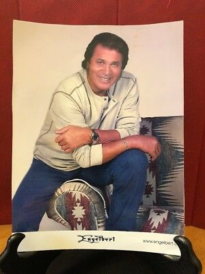 "Engelbert Humperdinck 8"" x 10"" Photograph /poster with website couch watch jeans"