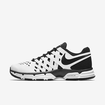 Nike Lunar Fingertrap TR Wide 4E 898065-100 White Black Men's Training Shoes NIB